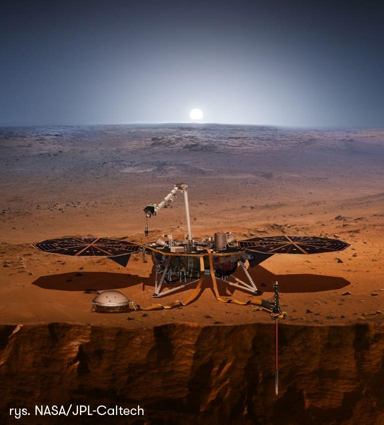 InSight zbada historię Marsa