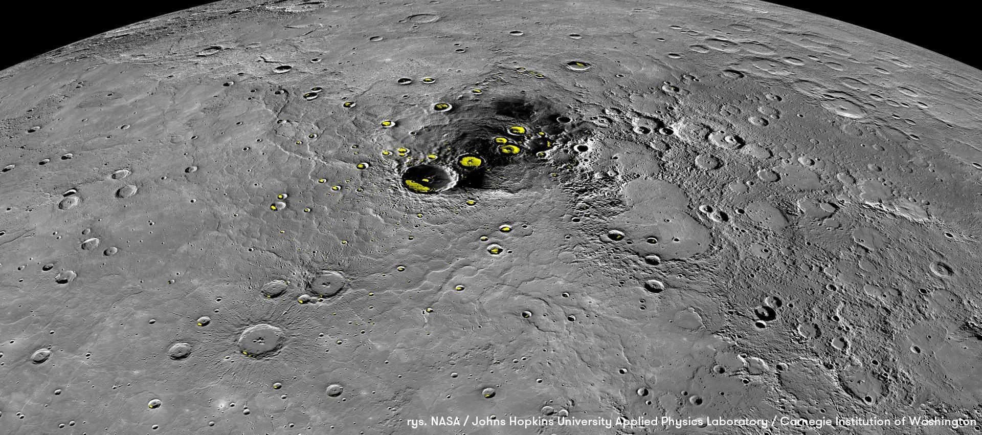 Dużo lodu na Merkurym
